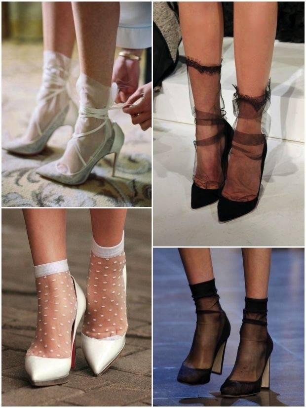 Μας ξετρέλαναν οι διαφανές κάλτσες που είναι στην μόδα φέτος και πάνε με όλα