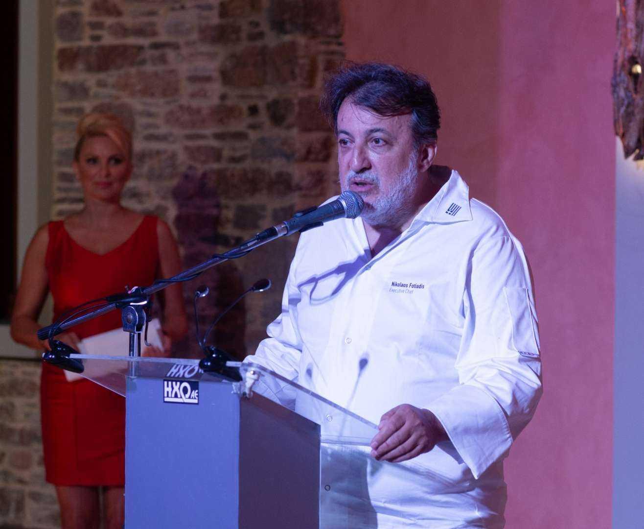 Ο διακεκριμένος σεφ Νίκος Φωτιάδης, πρόεδρος της κοινότητας Chef's Brigade Slow Food